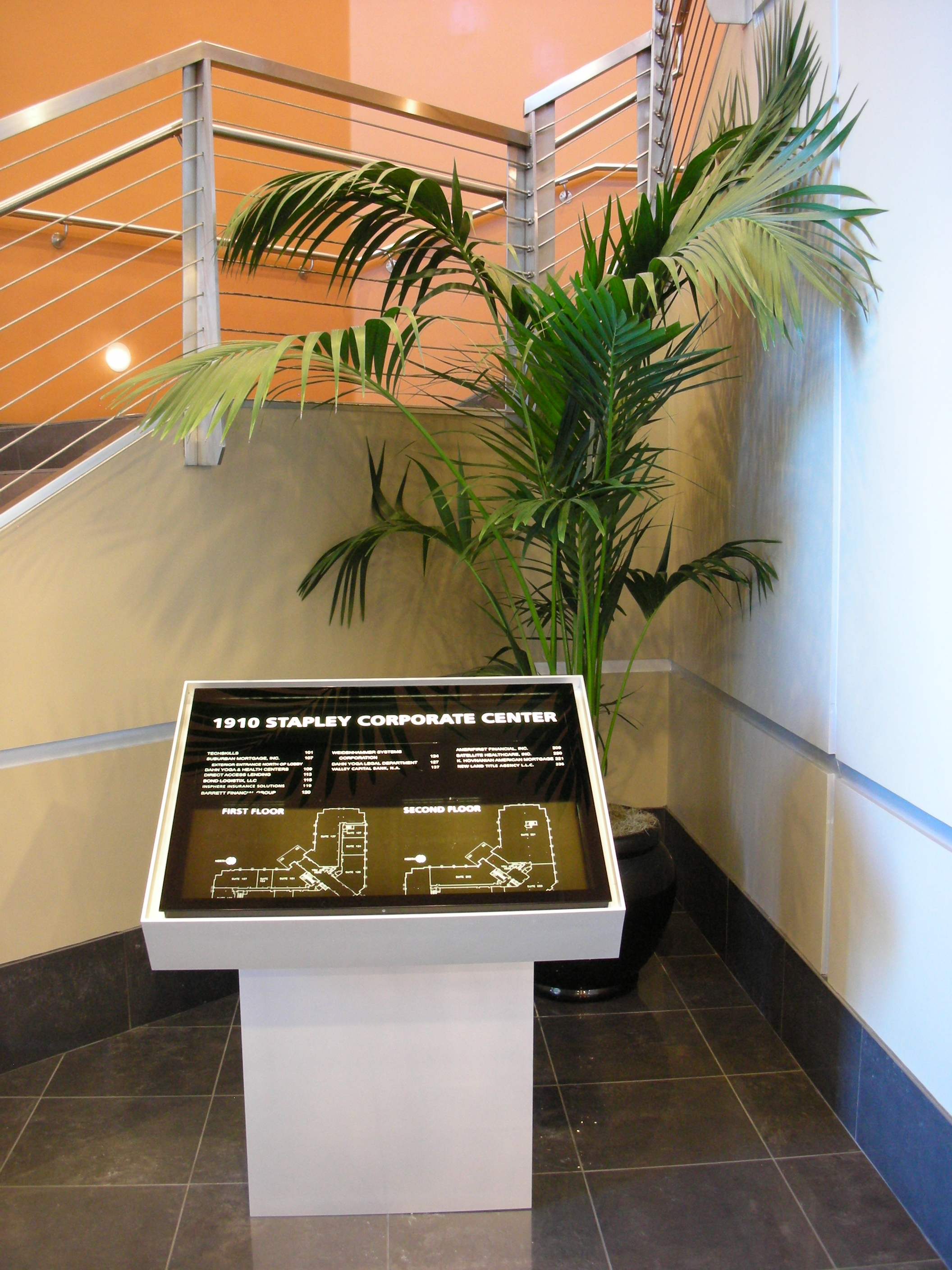 Freestanding Building Lobby Directories The Tablet