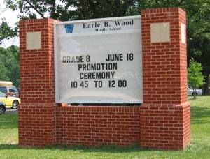 Earl B Wood Outdoor Sign
