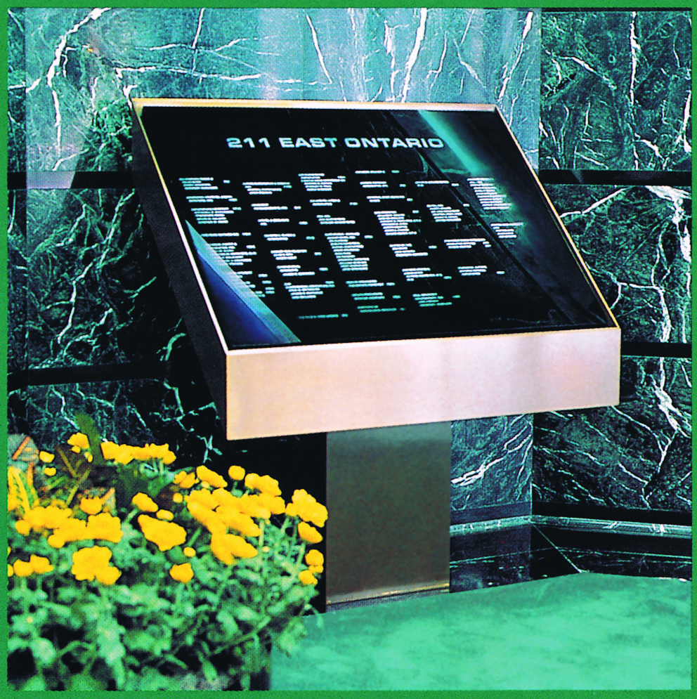Rear Illuminated Building Lobby Directories The Tablet